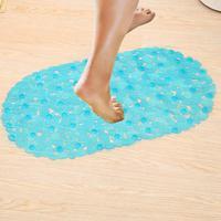Bath Mats Sucker Oval Pebble Foot Pad Foot Massage Non Slip Bath Mats Tapis De Bain