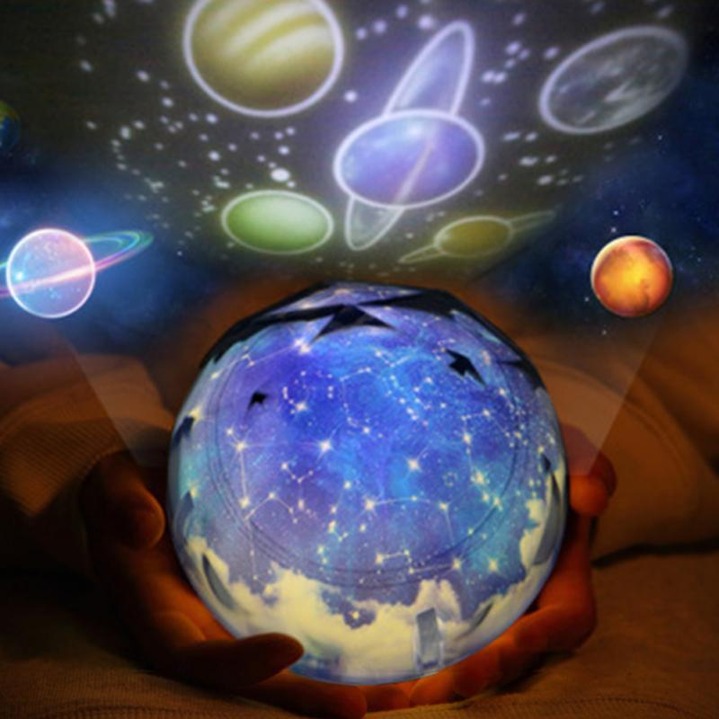 Universe Night Light Planet Magic Projector Earth LED Lamp Colorful Rotary Flashing Starry Sky Projector Kid Baby Christmas Gift night light rotary planet magic projector earth universe led lamp colorful rotary night lamp for kid baby christmas gift