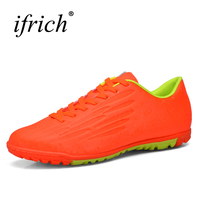 2016 New Football Boots Turf Soccer Shoes For Men Children Leather Soccer Tf Shoes Kids Soccer