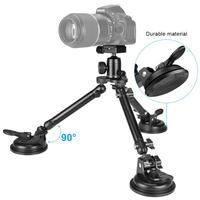 Triple Vacuum Suction Cup Heavy Duty Camera Holder Mount for Canon 5D Mark IV 1Ds Mark II Nikon D810 D700 D5 DSLR Camera Filming