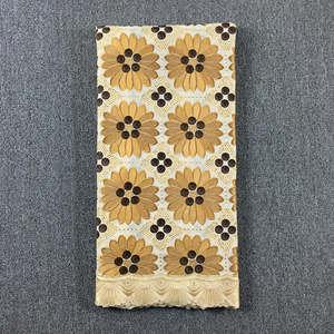 Image 4 - Originale ricamato Beige con Caffè svizzero del merletto del voile in Svizzera con pietre 048 5 metri 100% Abito di Pizzo di Cotone per partito