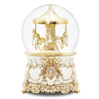 music Box Music box Crystal ball Carousel Send girls and children birthday gifts Snow creative Free shipping