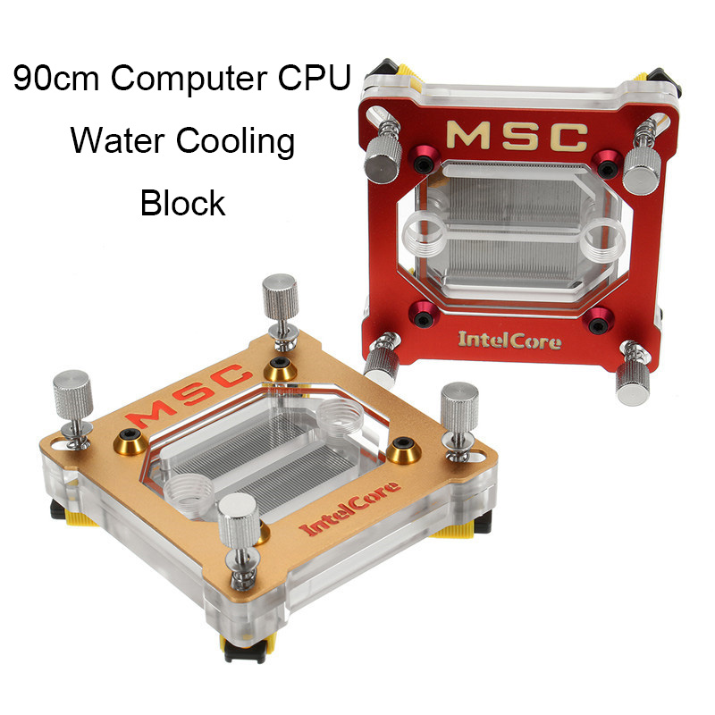Computer CPU Water Cooling Block Liquid Water-cooled Waterblock Pure Copper Inner Channel Water Heatsink for Intel 775/115X/1366 5pcs lot pure copper broken groove memory mos radiator fin raspberry pi chip notebook radiator 14 14 4 0mm copper heatsink