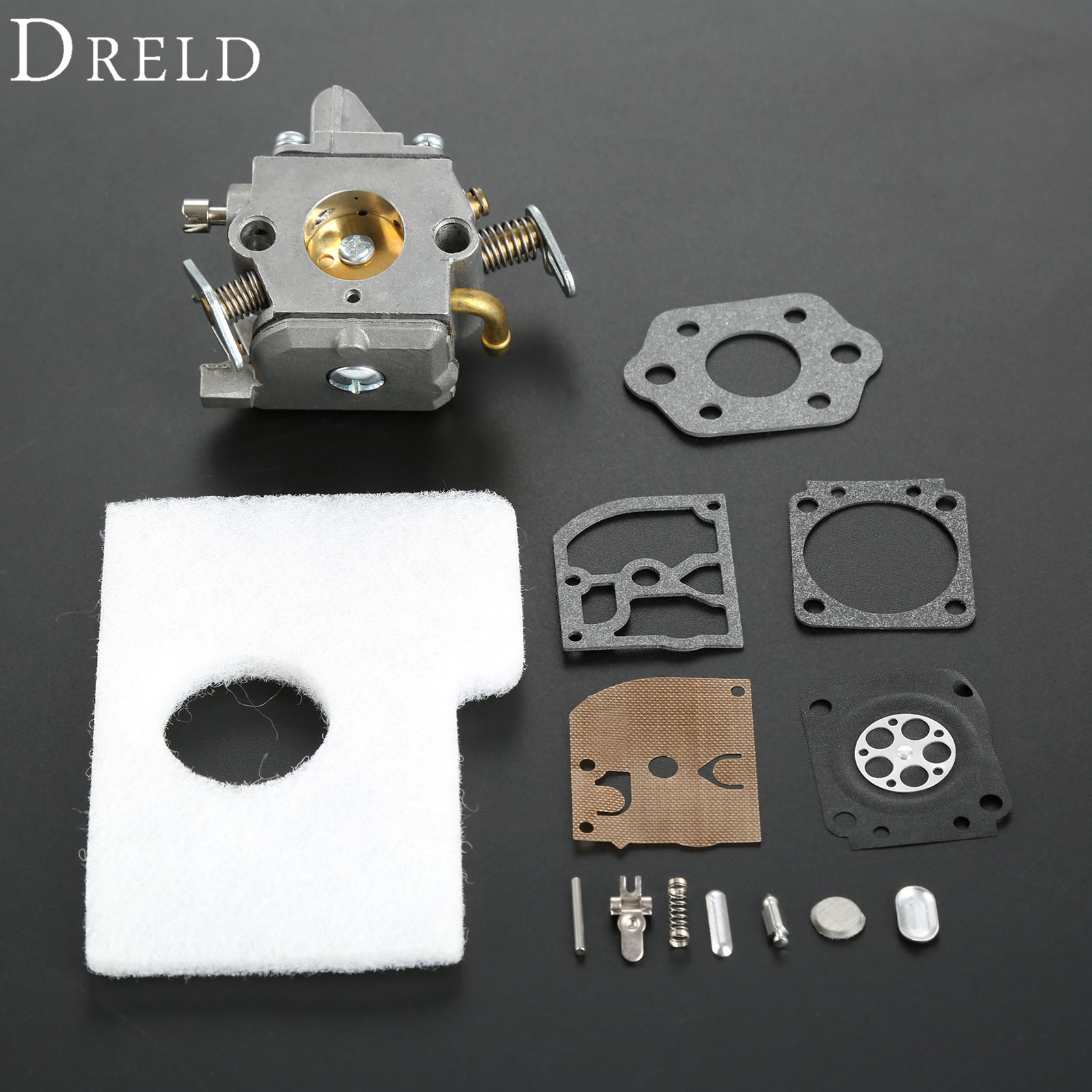 где купить DRELD Chainsaws Carburetor Air Filter Repair Rebuild Kit For STIHL MS170 MS180 MS 170 180 017 018 Chainsaw Zama C1Q-S57B 1130 по лучшей цене