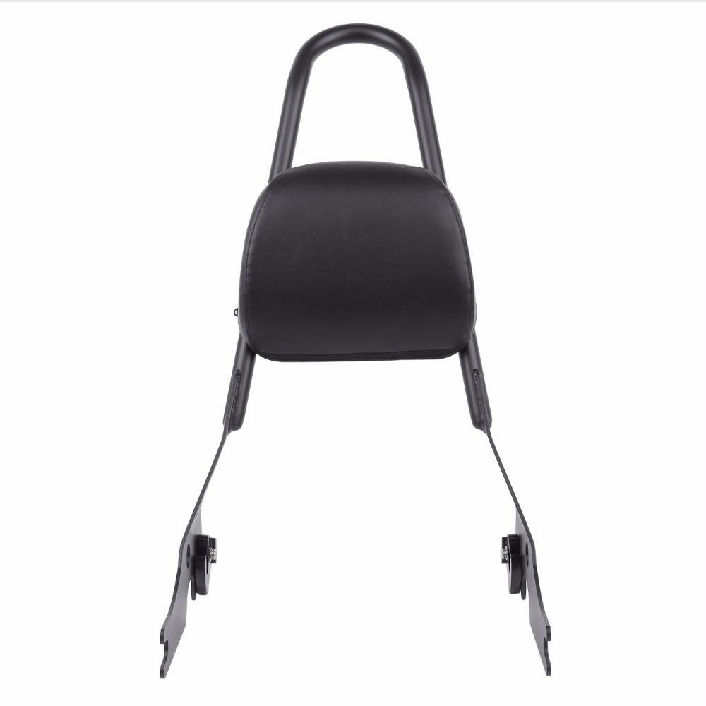 Motorcycle Passenger Backrest Pad Sissy Bar Cushion For Harley Sportster XL 883 1200 Black