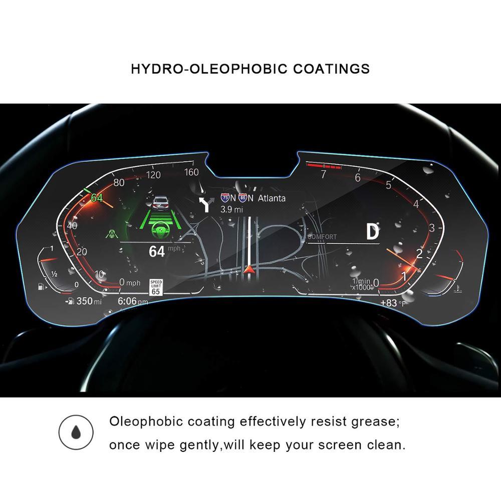 Image 2 - RUIYA Защита экрана для BMW X5 G05 ЖК дисплей экран приборной панели, 9 H Закаленное стекло протектор защита от ежедневных повреждений-in Защита экрана from Бытовая электроника on AliExpress - 11.11_Double 11_Singles' Day