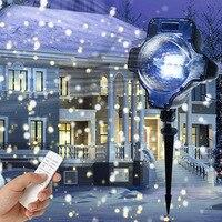 IP65 Lâmpada Do Projetor A Laser À Prova D' Água Ao Ar Livre Movimento de Queda de Neve de Neve Do Feriado Do Natal Decoração Do Jardim Paisagem Lâmpada Do Gramado
