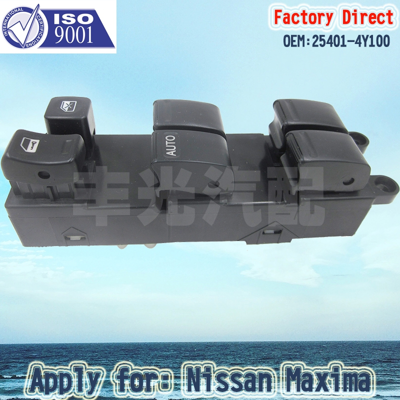 Factory Direct Auto Front Electric Power Window Master Control Switch Apply For NISSAN ALMERA MAXIMA 25401-4Y100