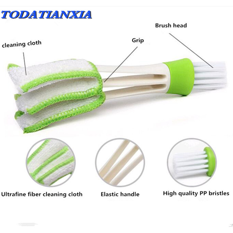 1PCS Car Air Outlet Vent Brush Dust Cleaning Tools for qashqai amg toyota vw <font><b>volvo</b></font> xc60 renault clio hyundai tucson audi a3 8p image