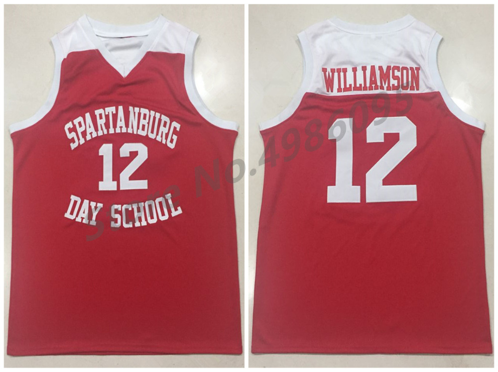 c10c41727  12 Zion Williamson Spartanburg Griffins Day High School Red Retro  Basketball Jerseys Mens Stitched Custom Any Number Name ~ Hot Deal May 2019