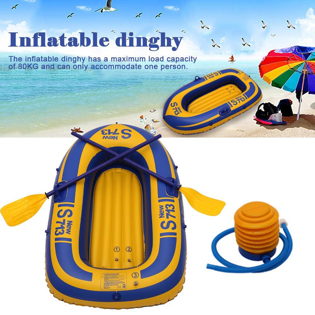 Bateau gonflable 30 fils épais dériveur charge maximale 80 KG simple PVC Film matériel bateau gonflable kayak