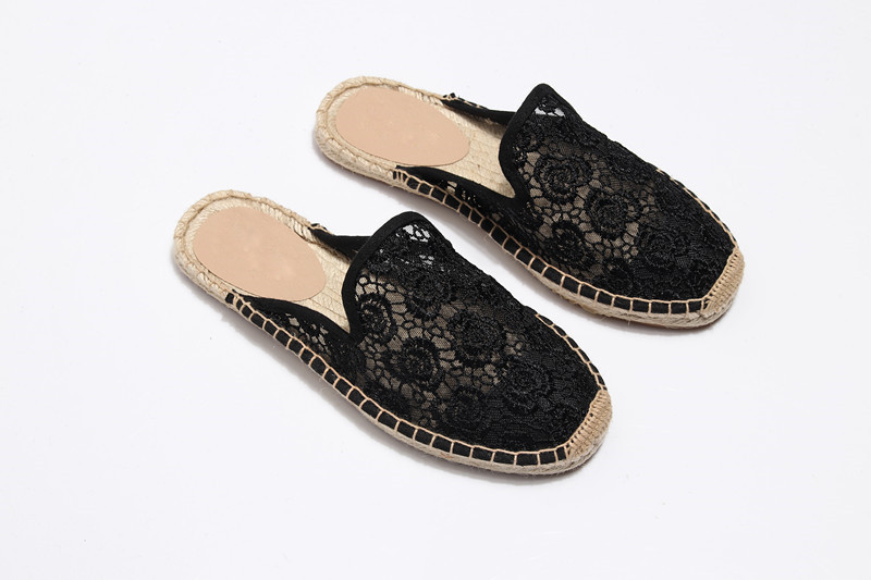 Summer Lace Espadrilles Flat Shoes Women Casual Fisherman Flats Ladies Breathable Lightweight Lazy Loafers New Female Hemp Shoes (13)