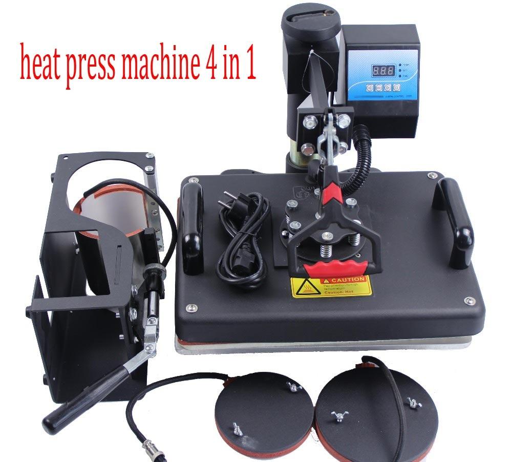 Free Shipping 4 in 1 Combo font b heat b font transfer font b machine b