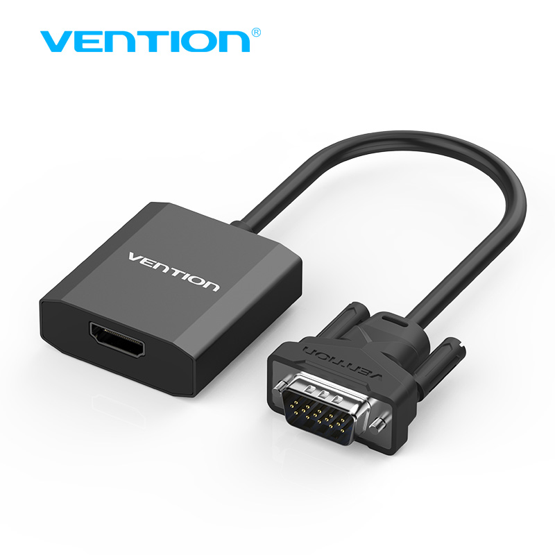 Vention Vga To Hdmi Converter Cable Adapter With Audio 1080p Vga Hdmi Adapter For Pc Laptop To