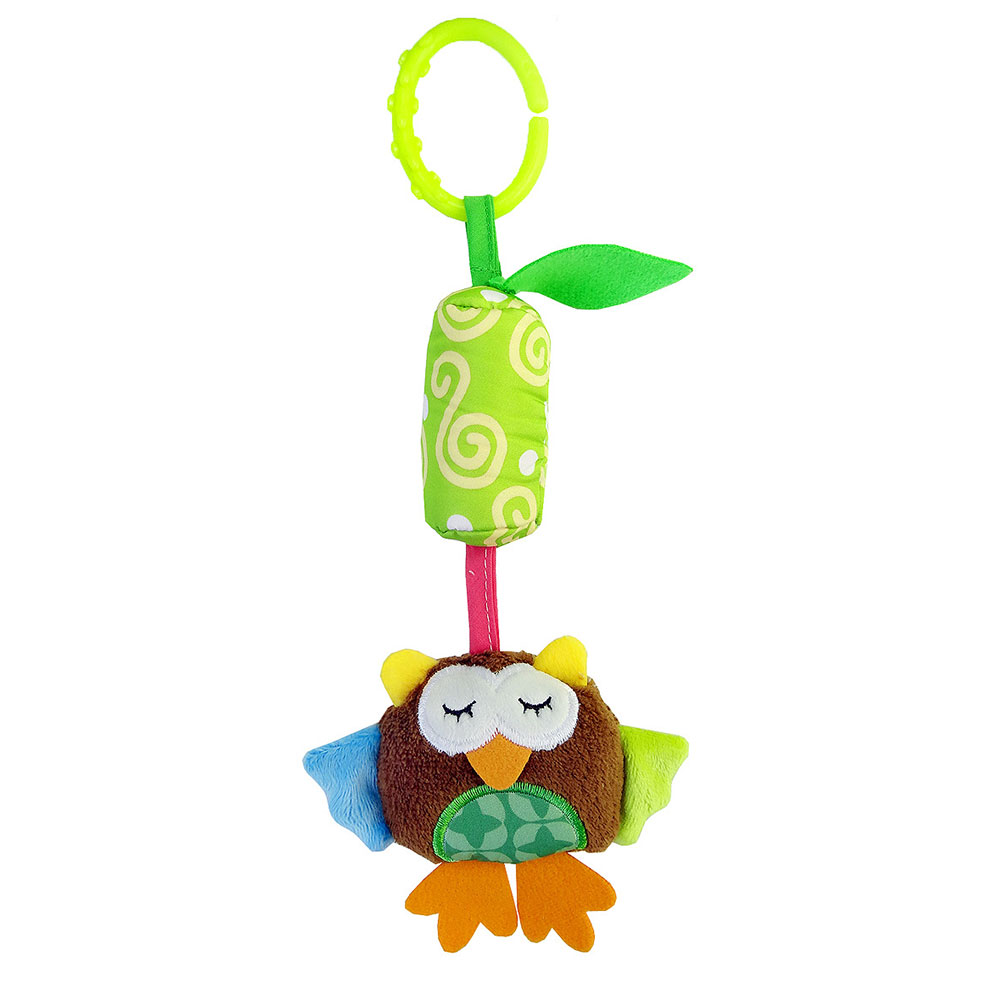 Детские колокольчики Детские Колокольчик погремушка детские висячая погремушка игрушки унисекс Младенцы плюшевая погремушка развивающие игрушки - Цвет: owl