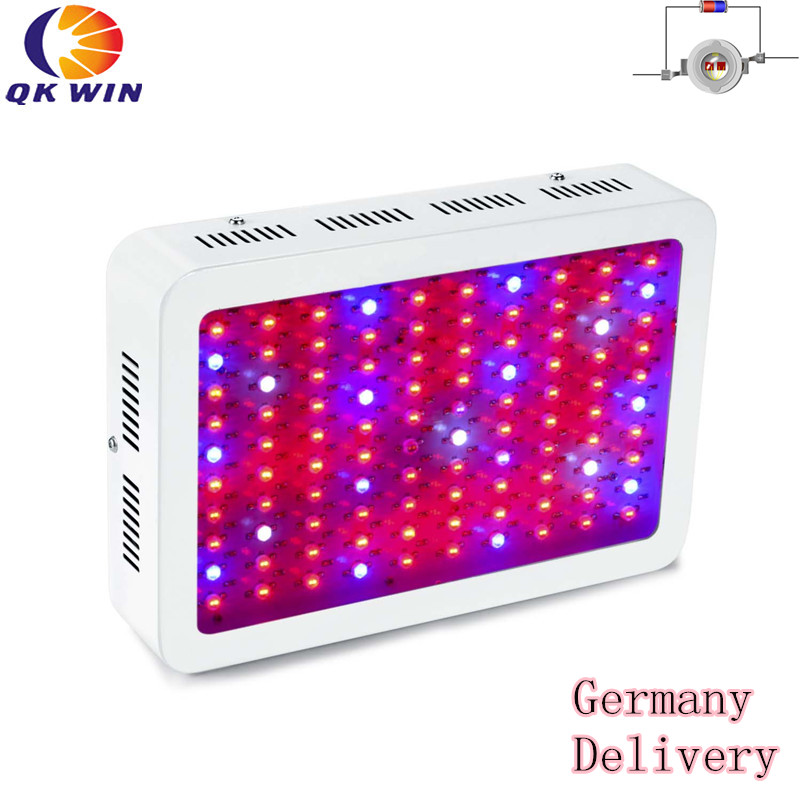 1pcs 1000w led grow light 100x10w with double chip 10w chip leds full spectrum led grow light Germany Warehouse drop shipping Qkwin 1000W LED Grow Light with 100x10W double chip 10W ledFull Spectrum LED Grow Light