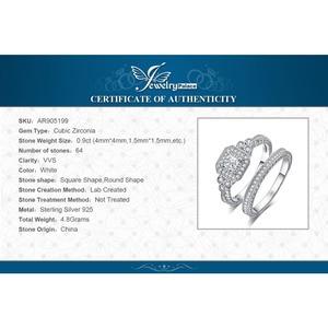 Image 5 - JPalace נסיכת בציר אירוסין טבעת סט 925 כסף סטרלינג טבעות נשים טבעות נישואים כלה סטי כסף 925 תכשיטים
