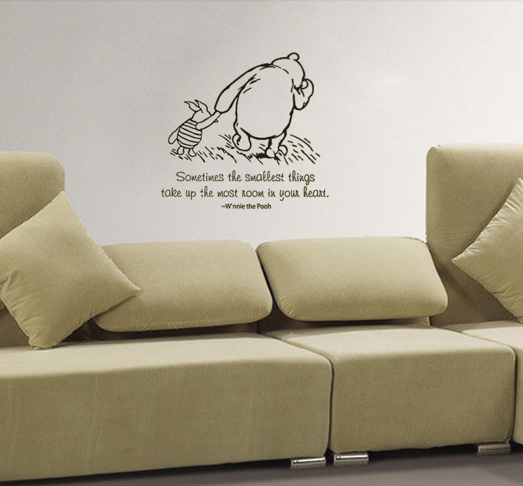 Classic Childrenu0027S Winnie The Pooh U0026 Piglet Quote Wall Decals Vinyl Stickers  Home Decor Living Room Part 58