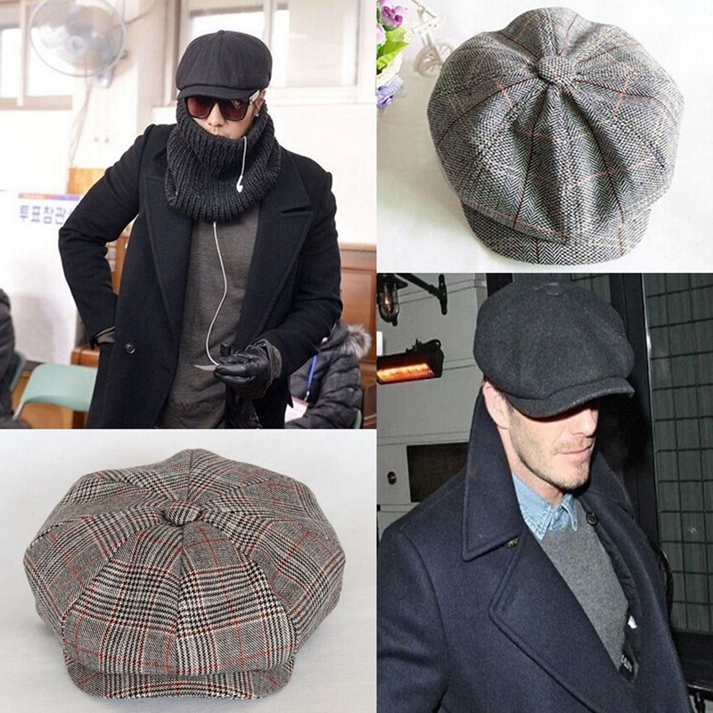 d9258181c US $3.99 20% OFF|Men Women Newsboy Driving Flat Gatsby Tweed Sun Hat  Country Beret Baker Cap painter caps octagonal 2017 fashion new B1-in  Berets from ...