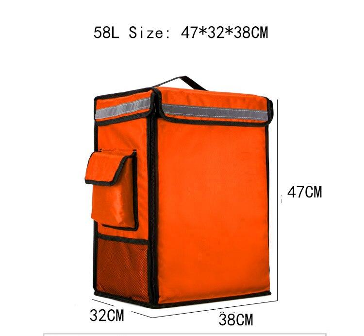 mochila entrega de pizza comida rápida incubadora