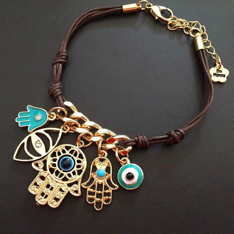 Women/'s Fashion Jewelry Designer Rose Gold Silver Evil Eye Bracelet Turkish 61-6