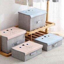 Bac de garde robe avec dessins animés, boîte de rangement pour vêtements, pliable, pour usage domestique pour vêtements