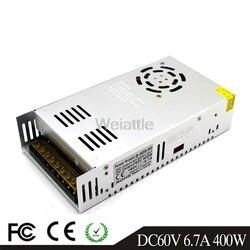 60 V 6.7A 400W  LED Light Belt Driver Switching Power Supply 110/220V AC-DC 60V Constant Voltage Transformer Monitoring Motor