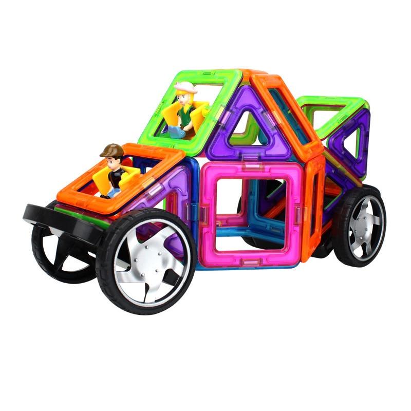 27 PCS Big Size Magnetic Constructor Set Model Boys&Girls Building Toy Plastic Magnetic toys Educational Designer For Children