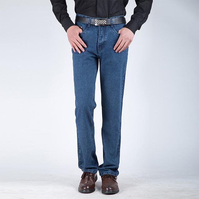 2016 Nueva Moda Otoño Invierno Casual Slim Fit Denim Jean Pantalones Hombres Flacos Sólidos Al Aire Libre Populares Pantalones Hombres Pantalones 13M0442