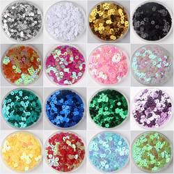 3 мм 4 5 6 мм, плоские круглые ПВХ свободные Блестки блестка Вышивание Craft для Свадебные украшения одежды платье обуви шапки DIY аксессуар