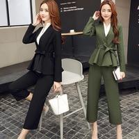 2017 Ladies Black Blazer Feminino Size M XXL Formal Jacket Women S White Blaser Female Women