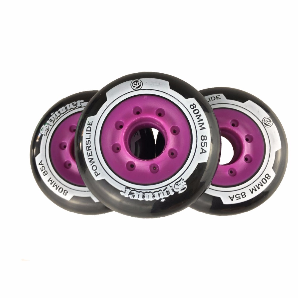 Image 3 - 80 76mm 85A Rollers for Inline Skates Slide Slalom Skates Wheels For Kids Adult Good as Powerslide Seba Patins Roller Wheel LZ25-in Scooter Parts & Accessories from Sports & Entertainment