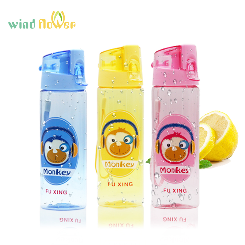 Wind flower New Cartoon Pattern Sports Drinkware for Kids Tour Portable Camp Leakproof Water Bottles