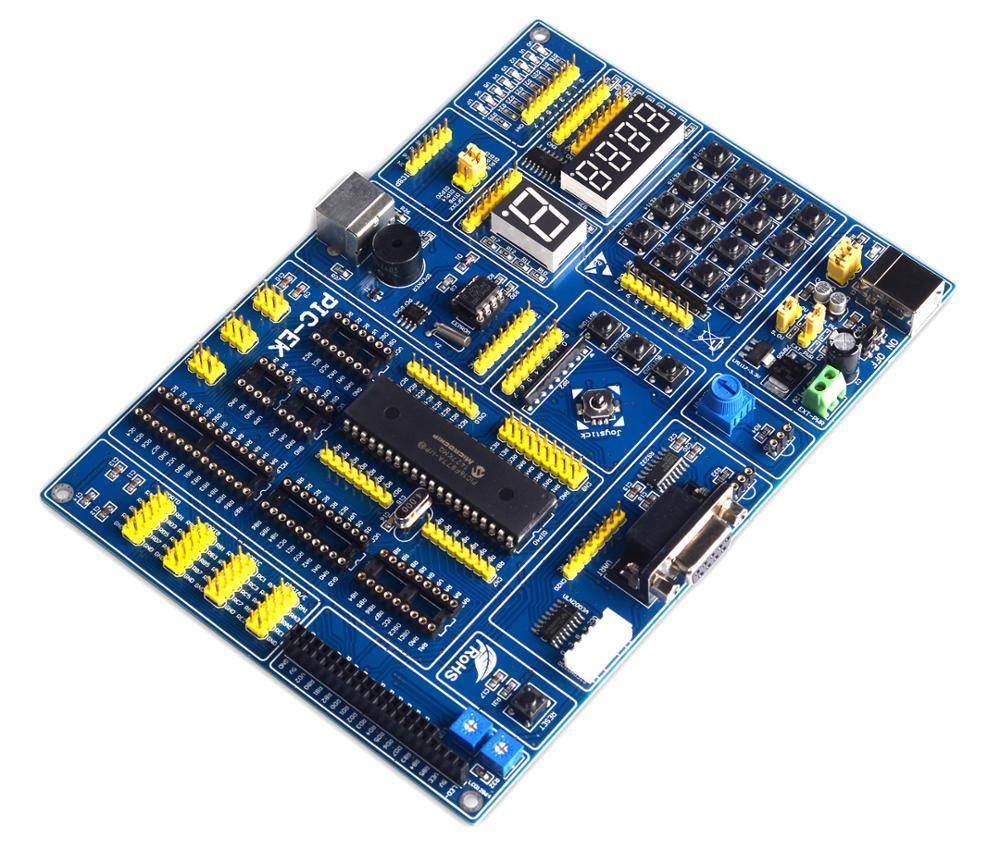 PIC microcontroller learning USB development board, PIC-EK with PIC18F4550 microcontroller