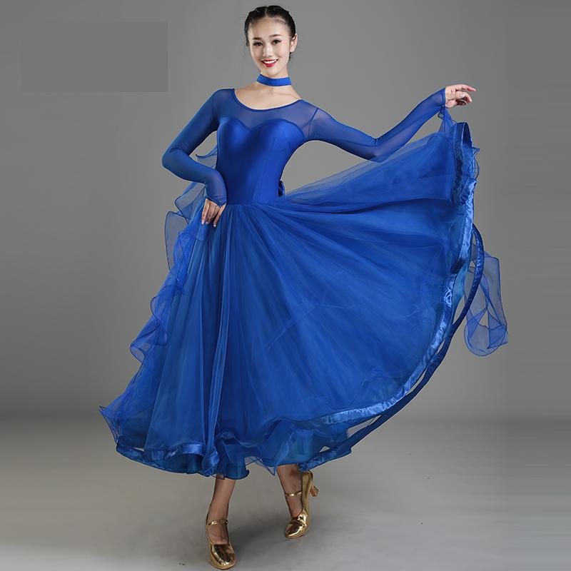 New Design Women  Modern Ballroom Dance Dress For Ballroom Dancing Waltz Tango Spanish Flamenco Dress Standard Ballroom Dress
