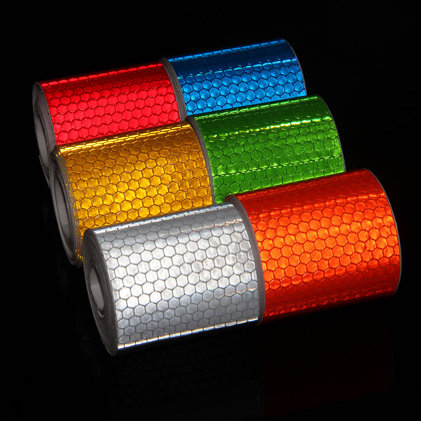 Bicycle Accessories 5cmx3m Reflective Bicycle Stickers Adhesive Tape For Bike Safety White Red Yellow Reflective Bike Stickers 24pcs 3 sheets brand new bicycle wheel reflective stickers bike wheel safe accessories red yellow blue