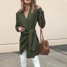 Winter Jackets Women Wool Blend Coat Casual Lapel Pocket Oversize Long Outerwear Female
