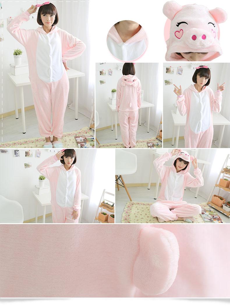 HTB1N yQQXXXXXXKXFXXq6xXFXXXe - Pink Unicorn Pajamas Sets Flannel Pajamas Winter Nightie Stitch Pyjamas for Women Adults