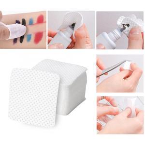 500Pcs Einweg Weiche Lint-freies Nagellack Entferner Baumwolle Pads Make-Up Reiniger Tücher Make-Up Entferner Tücher