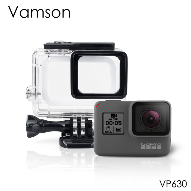Vamson для Gopro Hero 6 5 7 черный 45 м подводный водонепроницаемый чехол камера Дайвинг Корпус крепление для GoPro Аксессуар VP630