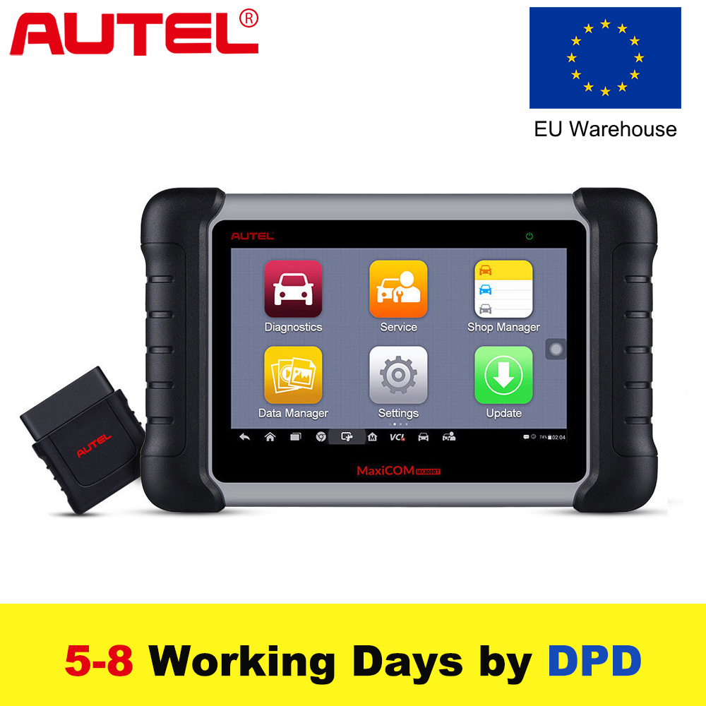 L'UE, 2018 Date Autel MaxiCOM MK808 BT Voiture Outil De Diagnostic OBD2 Automobile Scanner Diagnostic Fonctions de EPB/IMMO/DPF /SAS/PGT