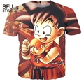 Cute Kid Goku 3D T Shirt DBZ T Shirts Women Men Casual Tees Anime Super Saiyan T Shirts Harajuku Tee Shirts Homme Dropship