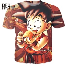 Kid Goku 3D T Shirt DBZ T Shirts Women Men Casual Tees Anime Super Saiyan T Shirts Harajuku Tee Shirts