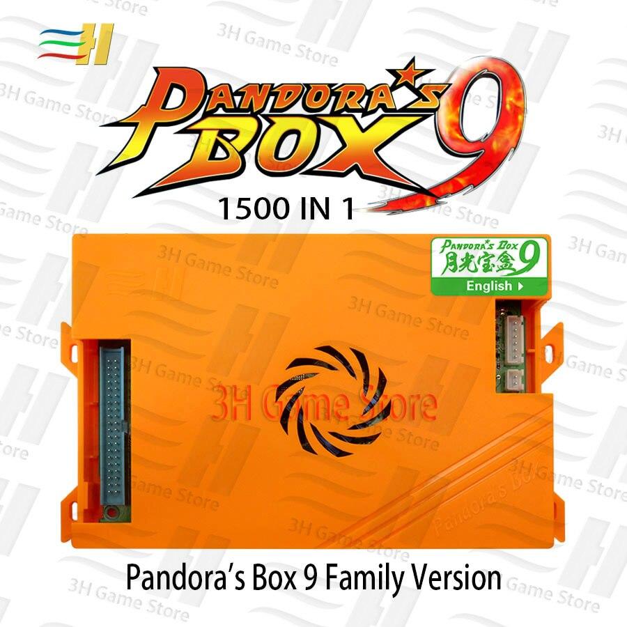 Pandora Box 9 1500 in 1 Famiglia Versione del Gioco della Scheda Madre e La Famiglia Al Cablaggio del Legare Per Joystick Pulsante di Arcade Console 720 p HDMI VGA