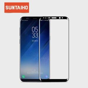 Image 1 - Suntaiho 3D kavisli yuvarlak yumuşak PET ekran koruyucu film Samsung Galaxy S8 S8 + Not 8 (temperli cam) koruyucu film