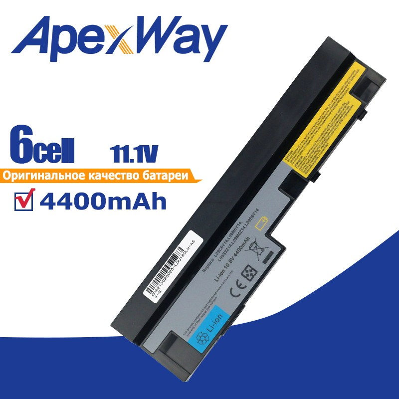 4400mAh 11.1v Laptop Battery For Lenovo IdeaPad S100 S10-3 S205 S110 U160 S100c S205s U165 L09S6Y14 L09M6Y14 6 Cells