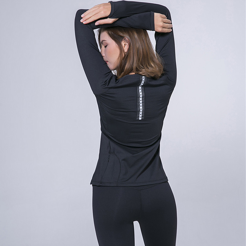 <+>  Reallion Sexy Mesh Женские рубашки для йоги Женские рубашки с длинным рукавом Спортивные топы для йо ①