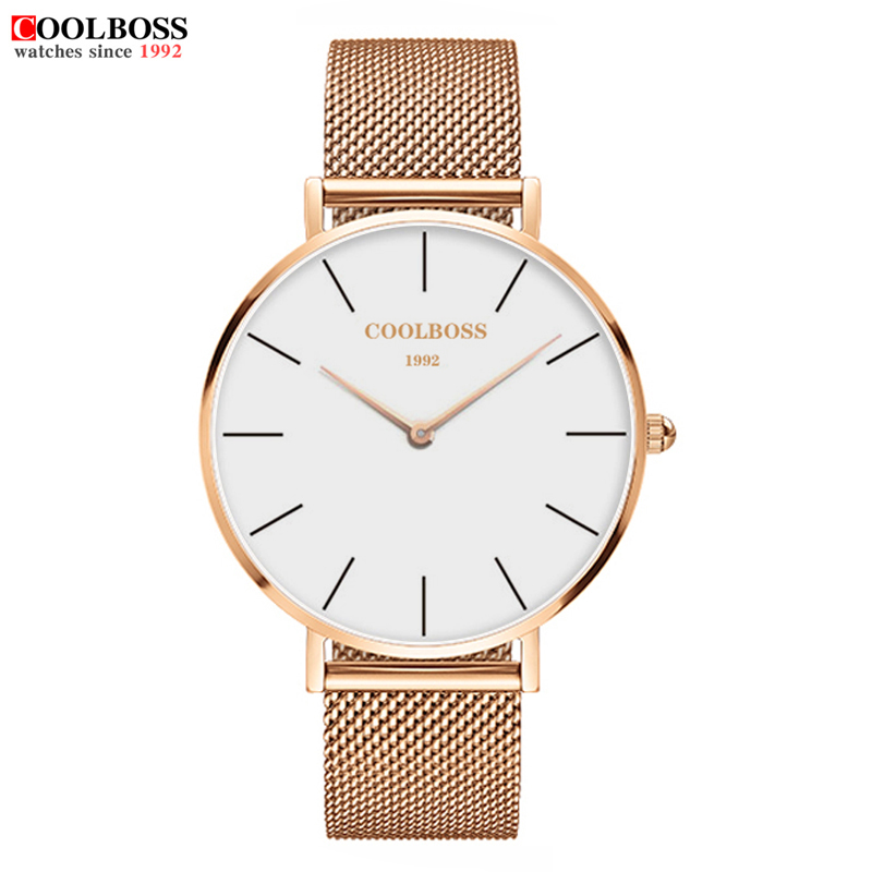 Learned New Mens Top Brand Luxury Fashion Watch Men Ultra Thin Gold Steel Mesh Watches Women Dress Quartz Lovers Watch Orologio Uomo Less Expensive Men's Watches