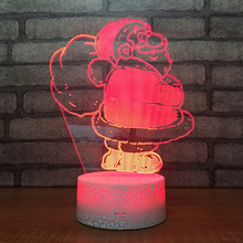 Santa Claus 3D LED Table Lamp Touch Colorful 7 Color Change Acrylic Night Light Home Bedroom Decor Kids Christmas Gifts недорого