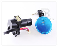 Motorcycle Aluminum Gas Cap Lock Ignition Lock with 2 Keys For SUZUKI GN250 GN 250
